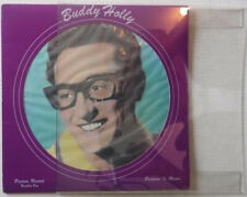 """BUDDY HOLLY – PORTRAIT IN MUSIC #1 PICTURE DISC- 12"""" VINYL LP & DISPLAY MOUNTING"""