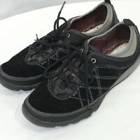 MERRELL Womens 10 Performance Shoes Black Suede Sneaker Laced Oxfords Hiking
