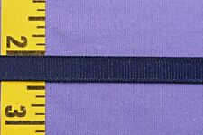 """Flat Braid Uniform Braid Tape Grosgrain Ribbon 3/8"""" Navy Blue 10 yds #BG247"""
