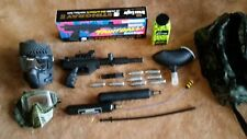 Brass Eagle Stingray Paintball Gun with black hopper and paint ball mask co2