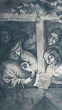 "ADRIEN JANSZ VAN OSTADE (DUTCH,1610-1685) ORIGINAL ETCHING ""THE SINGERS"""