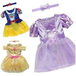 BABY GIRLS DISNEY PRINCESSES RAPUNZEL /BELLE /SNOW WHITE FANCY DRESS COSTUMES