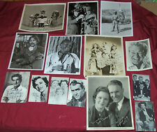 Old Signed Autographed Movie Star Photos Pictures Forrerst Tucker Dick Biondi