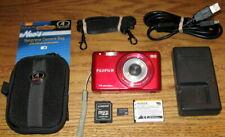 Fujifilm FinePix JX500 14MP 5.0x Optical Zoom Lens UVGC Red Guarantee Bundled
