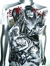 Vintage Japan Samurai Shogun Tiger Venum of Yakuza-Affliction Tattoo Art T-Shirt