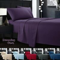 KING SIZE SHEETS 1800 Count 4 Piece Deep Pocket Bed Sheet Set King Queen Size 8R
