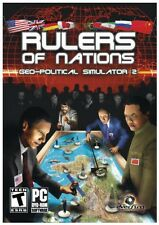 RULERS OF NATIONS GEO-POLITICAL OF SIMULATOR 2 for PC XP/VISTA/7 NEW