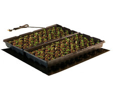 "Hydrofarm 2 Tray Seeding Heat Mat 20"" x 20"" Free Ship Plants Flowers Garden Farm"