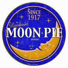 Vintage Replica Tin Metal Sign MOON Pie lookout brand sandwich snack cake 1802