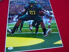 LAMICHAEL JAMES OREGON Signed 11X14 Football PHOTO JSA CERTIFIED  TICKET