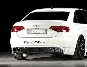QUATTRO AUDI A4 A6 A8 RS3 RS4 Q5 S- Line Racing Decal sticker emblem logo BLACK