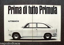 O163 - Advertising Pubblicità - 1967 - AUTOBIANCHI , PRIMA DI TUTTO PRIMULA