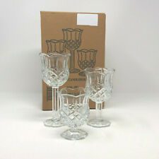 Home Interiors Homco Set 3 Glass Pedestal Stemmed Scalloped Candle Holders