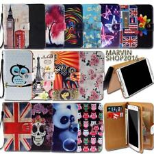 Universal Leather Wallet Card Stand Flip Case Cover For Various Phones+Strap
