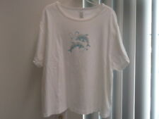 Cruise Wear& Co Dolphin Emblished T-Shirt 100% Cotton Size XXXL