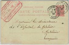 FRANCE -  POSTAL HISTORY: STATIONERY CARD from METELINO Austrian Levant 1907