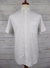 Vtg S-Sleeve White Classic Cotton Shirt by Pierre Cardin -M- DA08