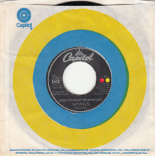 PAUL McCARTNEY (WINGS) (THE BEATLES) - LISTEN TO WHAT THE MAN SAID - CAPITOL 45