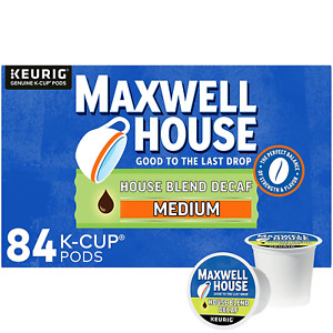 Maxwell House Decaf House Blend Medium Roast K-Cup Coffee Pods 84 ct., Box