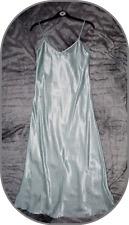New UK size 8  Long Satin Green with White stars Chemise Nighty Nightdress BNWOT