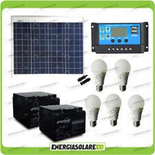 Kit éclairage panneau solaire 50W 5 heures 5 ampoules 7W étable chalet