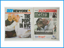 AM New York and Metro The POPE In NYC Two Newspapers September 25-27 2015
