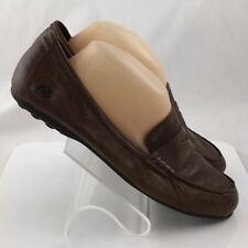 Born Womens Leather Penny Loafers Slip On Shoes 7.5M Brown D14116