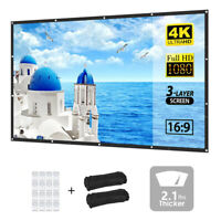 "VANKYO 120"" inch Thick HD Projector Screen 16:9 Hanging Projection Movie Screen"