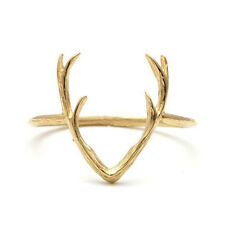 Antler Gold Ring, Boho,Bohemian,Animal,Stag,Kitsch,Goth,Gothic