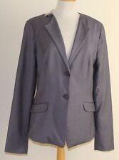 NEW GAP Sz 8 Tall Gray Elegant Two Button Lined Career Blazer Jacket