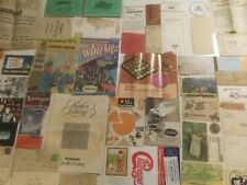 Vintage Junk Drawer Ephemera Lot Old Paper Pins Postcards Letters Early 1900s Up