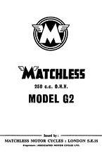 (0750) 1958-59 Matchless G2 250cc OHV instruction book