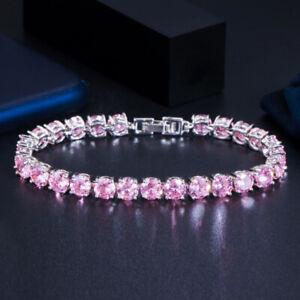 Dazzling White Cubic Zirconia CZ Crystal Round Bangle Bracelet for Women Costume