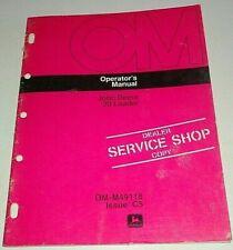 John Deere 20 Loader Operators Owners Manual (fits 400 Lawn & Garden Tractor)