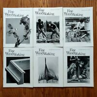 Fine Woodworking Magazine Lot 1982 Complete Year (6) Old Furniture Design Plans