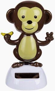 """Solarfigur Solar Wackelfigur """"Affe mit Banane"""" Scherzartikel Wichtelgeschenk"""