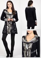 IZABEL LONDON BOHO HIPPIE FRONT BUTTON EMBROIDERED PATCHWORK CARDIGAN JACKET