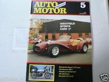 AMK 1988-05 YAMAHA TD3 RACER,MOTOBECANE MB1,WESTFIELD SE1,SE,JAGUAR XJ COUPE,MG