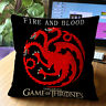 """Cushion Cover 18""""x18"""" Game of Thrones Square Pillow Case Cotton Linen Home Decor"""