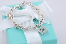 "Tiffany & Co. Sterling Silver Letter ""C"" Padlock Charm 7.5"" Bracelet w/Packaging"