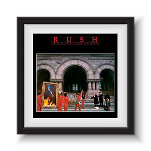 """Rush - Moving Pictures   12"""" Album Cover - Framed 16"""" x 16"""""""