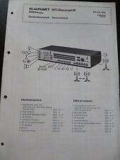 Original Service Manual Blaupunkt Hifi Steuergerät Delta 3092