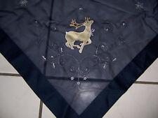 Tischdecke Mitteldecke Weihnachten blau silber 85 x 85