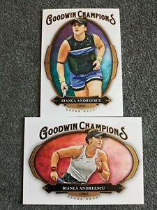 2020 UPPER DECK GOODWIN CHAMPIONS BIANCA ANDREESCU 2 CARD LOT