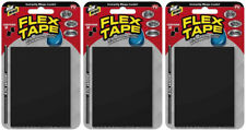 "(3 Pack) Flex Tape Mini 3"" x 4"" Super Strong Waterproof Tape, Black,  2 ct Each"