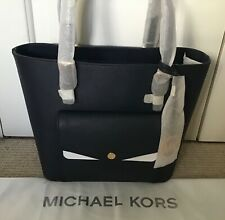 Michael Kors Pocket Tote, Admiral Blue Saffiano Leather, BRAND NEW