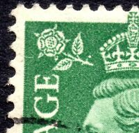 1950 Sg 505 1½d Pale Green Rose Hip On Stem of Rose Fine Used
