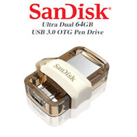 SanDisk Gold Ultra 64GB Dual Drive m3.0/USB3.0 for Computers and Android Devices