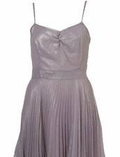 TOPSHOP BEAUTIFUL PLEATED SKIRT CORSET TOP SHINY DRESS VINTAGE LOOK 50' S NEW