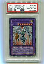2005 Yu-Gi-Oh! 1st Ed Elemental Hero Shining Flare Wingman Ultra EEN-EN036 PSA10